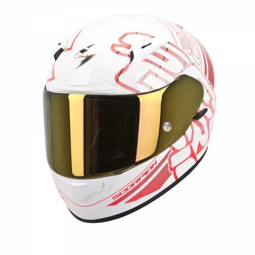 Scorpion - Casque moto - Scorpion EXO-2000 EVO AIR Ipsum Blanc perle/Rouge