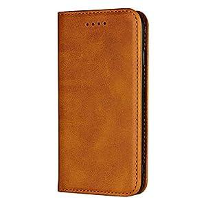 DENDICO iPhone 7 Plus Hülle, iPhone 8 Plus Hülle, Premium Leder Wallet Flip Schutzhülle, Ultra Dünn Handyhülle mit Kartenfach und Magnetverschluss für Apple iPhone 7 Plus / 8 Plus – Schwarz