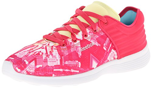 Reebok Court Victory-Pumpen-Schuhe Blazing Pink/Yellow Filament/White/City