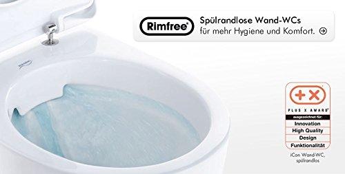 Keramag iCon xs Keratect Wand-WC spülrandlos Ausladung 49 cm + Haro WC Sitz * kein Softclose *