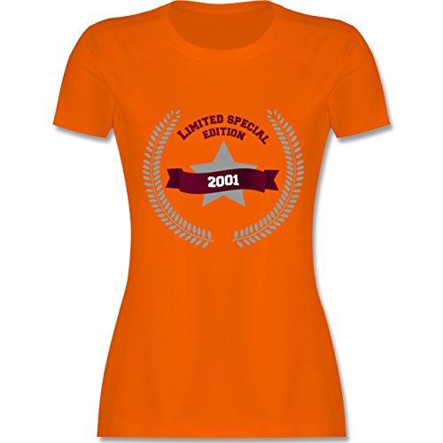 Geburtstag - 2001 Limited Special Edition - tailliertes Premium T-Shirt mit Rundhalsausschnitt für Damen Orange