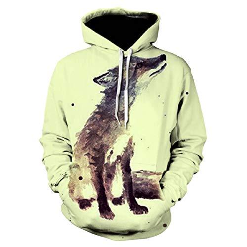 s Casual Wolf Hoodies M?nner Frauen Sweatshirts Mode WE-284 XXXL ()