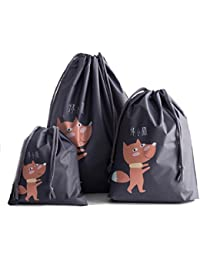 Sannysis 3pcs bolsos con cordón Bolsas de almacenamiento Bolsa de Impermeable