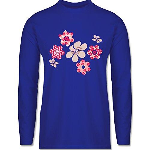 Blumen & Pflanzen - Blumen - Longsleeve / langärmeliges T-Shirt für Herren Royalblau