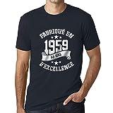 Ultrabasic - Fabriqué en 1959, 60 Ans d'être Génial Unisex T-Shirt Marine