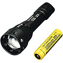Combo: Sunwayman T25C CREE XM-L2 U3 LED Zooming Flashlight w/ NL189 Battery