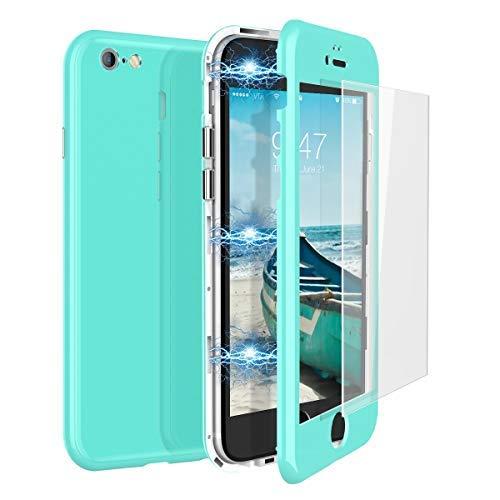 CE-Link Funda iPhone 6 Funda iPhone 6s Cristal Templado