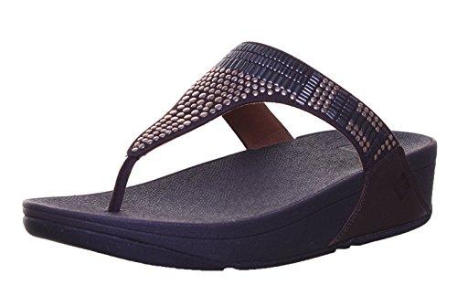 Fitflop Aztek Chada TM pour femme en cuir nubuck sandales Choco RK1