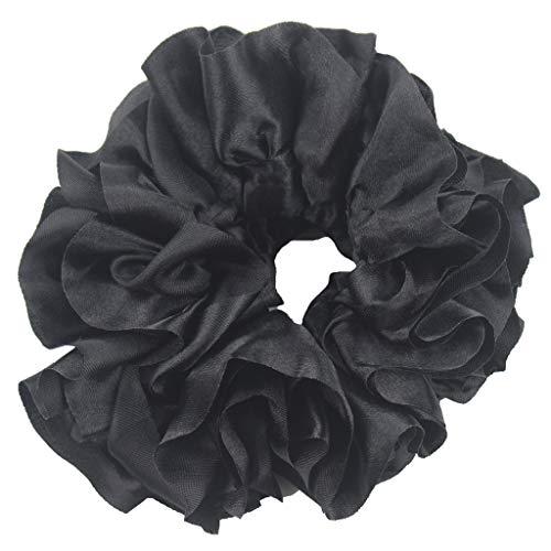 Tensay Bunte Haarbänder Haargummis Haar Scrunchies Elastische Haarbänder Volumizing Scrunchie Big Tiara Haarschmuck Ring Gummiband Hijab für Frauen Make Up Werkzeug -