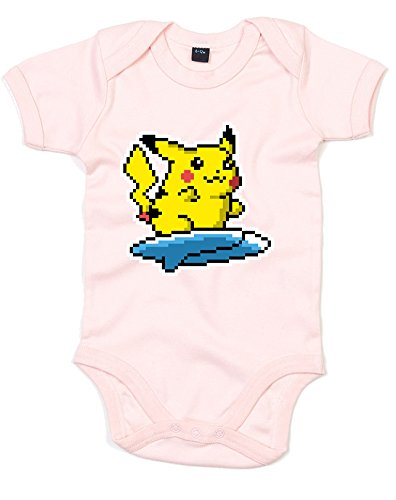 ruckt Baby Strampler - Hellrosa/Transfer 3-6 Monate (Pikachu-strampler)