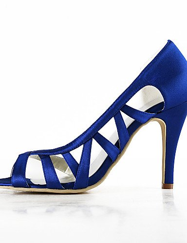 WSS 2016 Chaussures de mariage-Noir / Bleu / Jaune / Rose / Violet / Rouge / Blanc / Argent / Or / Beige / Amande-Mariage / Habillé / Soirée & 3in-3 3/4in-golden