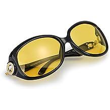 Myiaur Classique Mode Lunette Jaune Conduite de Nuit Anti Eblouissement  Polarisantes pour Femme - Protection 100 20708d79dc71