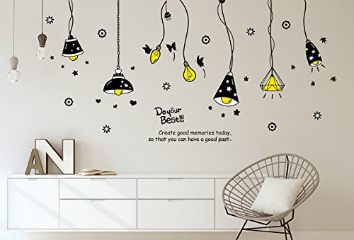 Amazon Brand - Solimo Wall Sticker for Living Room (Light on!, Ideal...