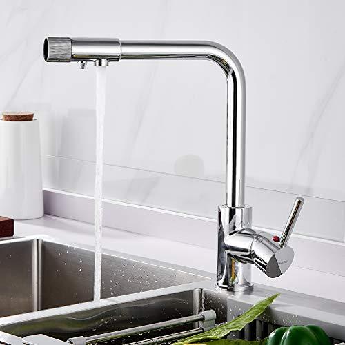 BONADE Wasserfilter Wasserhahn für Armatur Küche Küchearmatur Hebel 1 Mischbatterie Spüle Spültischarmatur Wasserkran Spülbeckenarmatur