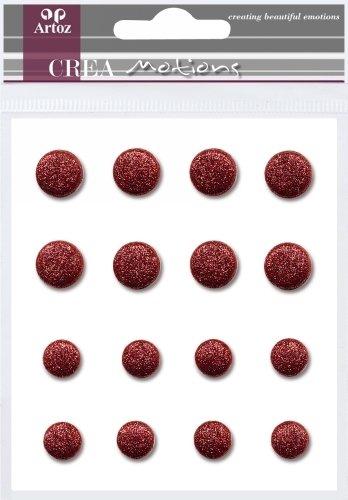 Artoz CREA motions ScrapBooking Brads Glitter, rot, Schmuck-Klammern, Größen 8 mm und 10 mm (Motion Schmuck)