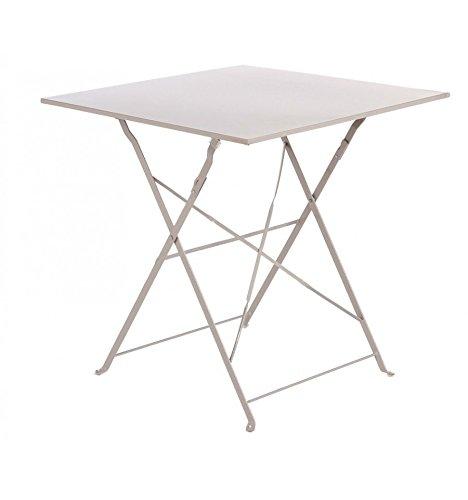 Table de jardin carrée pliante 70x70cm Camargue taupe Hespéride