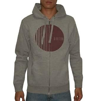 Burton Herren Warm Surf & Skate Zip-Up Hoodie Sweatshirt Jacket Large Grau