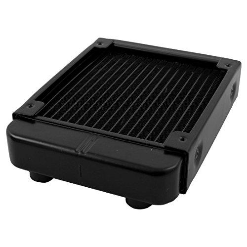 sourcingmap® 120mm Schwarz Computer CPU Aluminum 18 Rohr Wasser Kühlung Wärmetauscher Kühler - 3