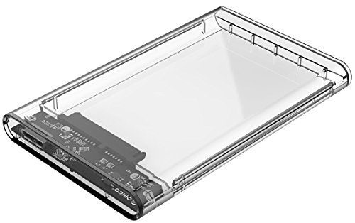 ORICO caja de disco duro USB 3.0 con UASP para HDD y SSD SATA III de 2.5 pulgadas - Transparente