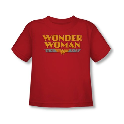 Dc Comics - Wonder Woman Logo Kleinkinder T-Shirt in Rot, 4T, Red (Kleinkind-t-shirt Woman, Wonder)