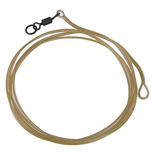 Boquite Angelschnur, 1m Leader Ring Swivel Core Tool(braune Farbe mit Q-Wirbel) -