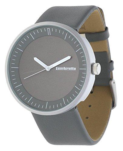Lambretta 2160-STO - Reloj, correa de cuero color gris
