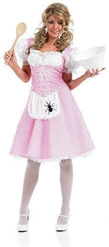 Damen Längere Länge Kleiner Bo Peep Rotkäppchen Dorothy Goldlöckchen Miss Muffet Maskenkostüm UK 8-26 Übergröße - Miss Muffet, (Lange Kostüme Dorothy)