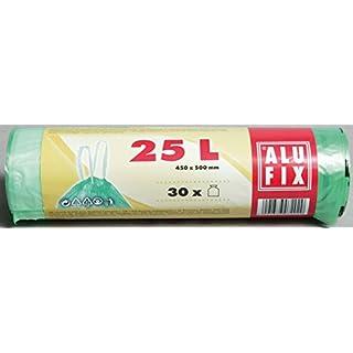 Alufix Zugbandbeutel 25 Litres, Green - 30 Pieces