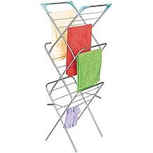 ArtMoon Niagara Stendibiancheria Verticale a Tre Livelli con Angoli Argento 48X47X129 cm