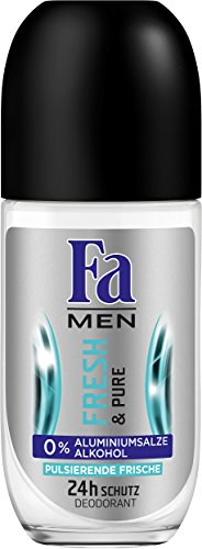 Fa Men Deo Roll-on Fresh & Pure 48h, 6er Pack (6 x 50 ml)