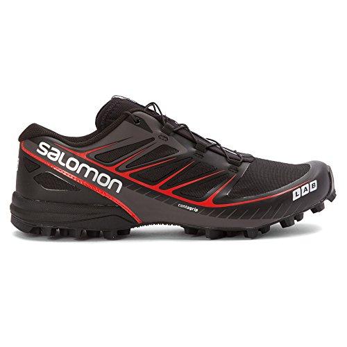 Salomon S-Lab Speed, Chaussures de Running Compétition Mixte Adulte Noir/Rouge