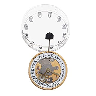 KUNSE Mechanical Automatic Watch Movement Calendar High Accuracy Wristwatch Replacement For ETA 2824-Gold