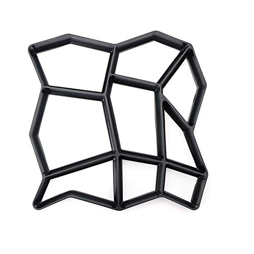 yeehao Garten DIY Kunststoff Pfad Maker Pflaster Modell Beton Trittstein Zement Form Ziegel