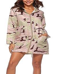 BIRAN-55 Damen Outwear Frühling Herbst Mode Vintage Camouflage Langarm Jacke  Slim Mit Kapuze Schöne a6729b5775