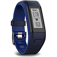 Garmin Vivosmart HR+ GPS Fitness Activity Tracker with Smart Notifications and Wrist Based Heart Rate Monitor - Regular, Blue