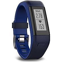 Garmin Vívosmart HR+ - Pulsera de actividad con GPS, color Azul, Regular