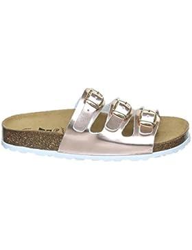 Lico Bioline Kids – Pantolette für Mädchen mit verstellbaren Schnallen   Hausschuh Schlappen Sandale