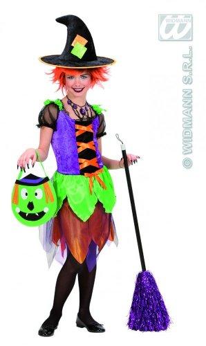 WIDMANN 599386031–Hexe Chic Kostüm für Kinder 140cm von 8bis ()