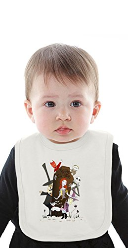 nightmare before christmas Organic Baby Bib With Ties Medium