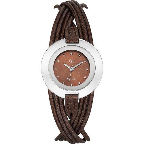 Go Girl Only Damen-Armbanduhr 698123–Quarz–Analog Zifferblatt braun Armband Leder braun