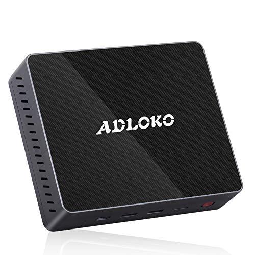 Gemini Lake - Mini PC - ADLOKO Gemini Lake GE41 Mini PC lautlose, GMINI Lake N4100, HD Graphics 600, RAM DDR4 4GB/64GB, Support 2,5\' SATA HDD, SDD, Dual HDMI 4K, LAN Gigabit, WiFi 2,4 / 5.8G, Bluetooth 4.0