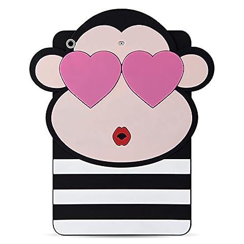 iPad Mini Hülle, JAMMYLIZARD 3D Tier Silikon Rückenschutz-Cover für iPad Mini 3. 2. und 1. Generation, (Ausschnitte Vorlage)
