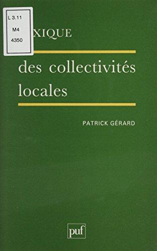 Lexique des collectivités locales par Patrick Gérard