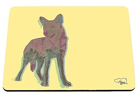 Hippowarehouse Gazing Dog Pop Art imprimé Tapis de souris accessoire