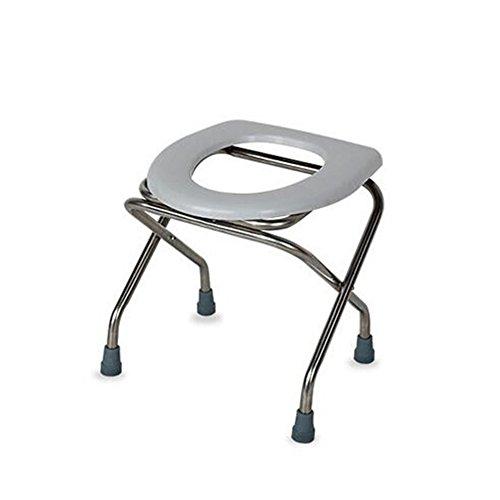Faltbare Kommode Deluxe Falten Leichte Bewegliche Kommode Stuhl Mit WC-Sitz Bad Stuhl Hocker Für Schwangere Frauen Alter Mann Und Behinderte Menschen Blau -