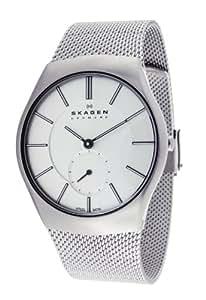 Skagen Herren-Armbanduhr XL Analog Quarz Edelstahl 916XLSSS