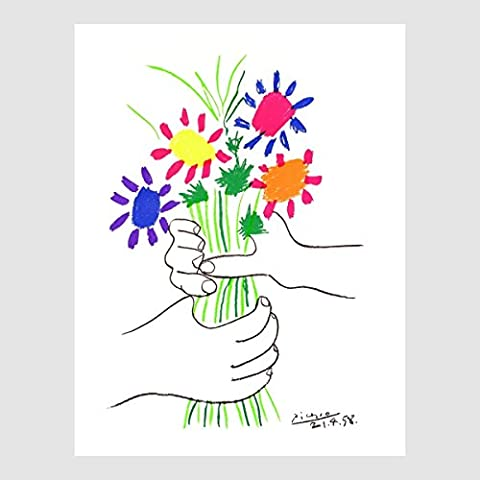 Kunstdruck Poster Bild Pablo Picasso - Bouquet 60 x 80 cm ohne Rahmen