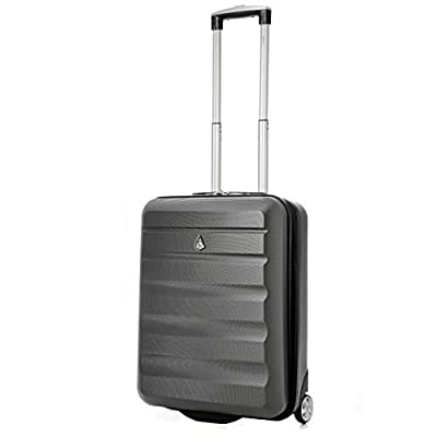 """Aerolite 55x40x20cm Ryanair Cabin MAX Hard Shell 2 Wheel Lightweight Hand Luggage Travel Suitcase (21"""", 40L) - Approved for Ryanair and Easyjet"""