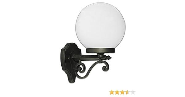 Lanterna applique in alluminio pressofuso design a palla globo