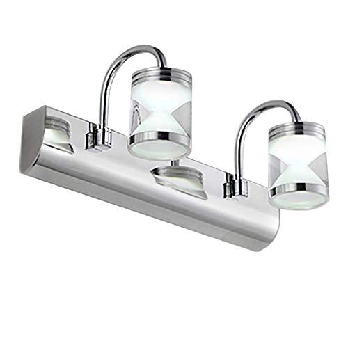 6 Vanity Bar Licht (6W Modern LED Vanity Light Wandleuchte 12,6 Zoll Badezimmer Wandleuchte Make Up Spiegel Licht Wasserdicht Beleuchtung Antibeschlag Wandlampe aus Aluminiumlegierung & Acryl 2 Flammig Kaltesweiß Licht)